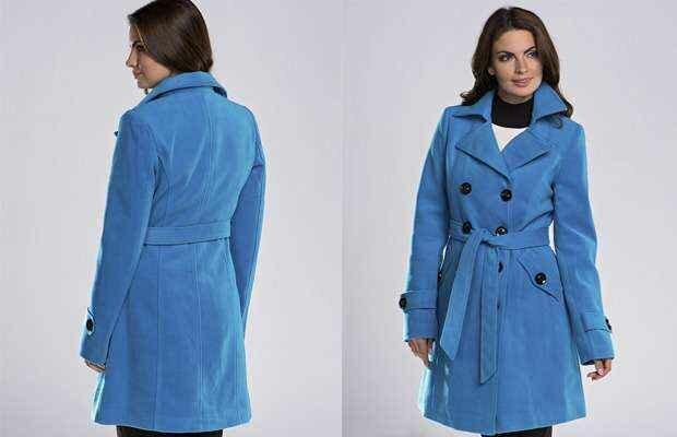 Синее пальто - вещь, которая не останется незамеченной